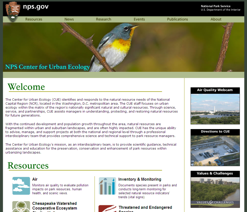 Center for Urban Ecology Website
